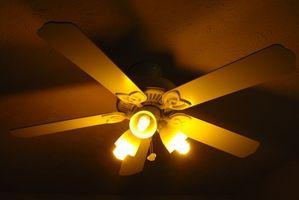 Come eseguire ventilatori a soffitto più lenti per risparmiare energia elettrica