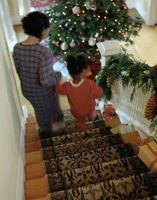 Come decorare le scale con un dropcloth Runner