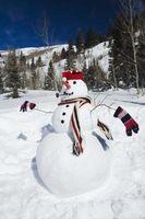 Crafts legno Pupazzo di neve Paesaggio