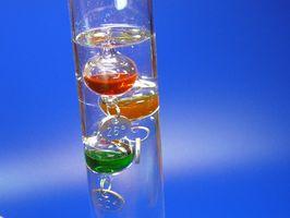 Qual è il liquido in Galileo termometri?