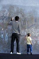 Muro di vernice che può essere utilizzato con il gesso pastelli per la creazione di Wall Art