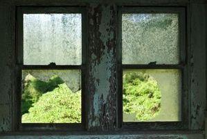 Come riparare vetro rotto in doppio-hung di Windows