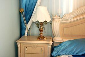 Nero, bianco e blu Vintage idee camera da letto