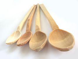 Come Seal cucchiai di legno con lacca