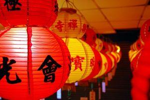 Come appendere lanterne giapponesi