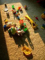 Come nascondere i giocattoli con un divisorio