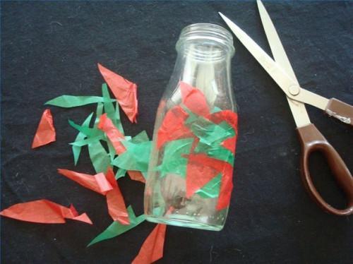 Come fare un Tissue coperto Vase di un vaso riciclata