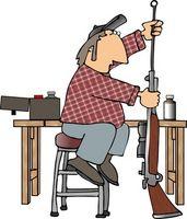 Come costruire una tabella di pulizia della pistola
