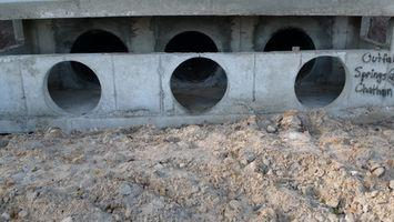 Strumenti per la pulizia di tubi in calcestruzzo di irrigazione