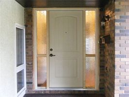 In fibra di vetro esterno della porta contro esterna in acciaio Porta