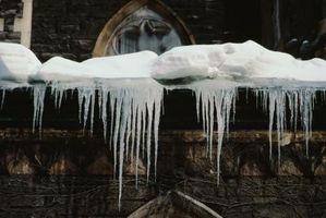 La rimozione della neve sul tetto