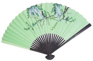 Come visualizzare una seta Fan cinese con uno stand