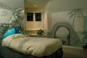 Come dipingere una stanza con un tema Paesaggio