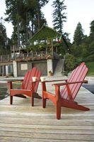 Pittura Outdoor Mobili in legno con un High Gloss
