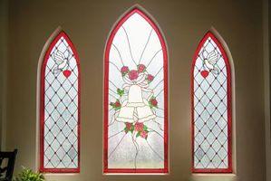 Come creare una finestra Faux vetro al piombo