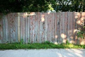 La durata di un recinto di legno